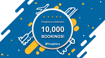 Freightera celebrates 10,000th booking image