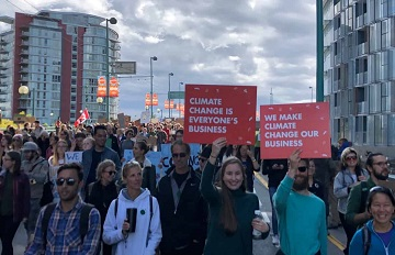 Global Climate action in Vancouver, photo by Freightera CEO Eric Beckwitt