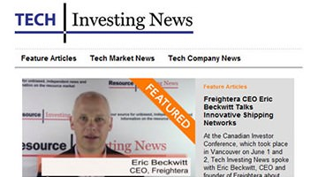 Eric Bekcwitt, Freightera CEO featured at Tech Investing news