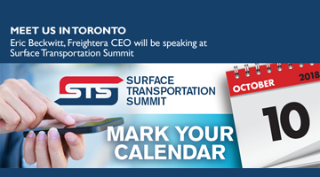 Freightera CEO to Speak at Surface Transportation Summit in Toronto announcement
