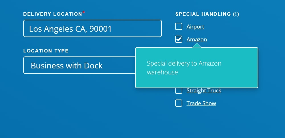 Indicate special handling for Amazon