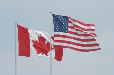 Flags of US and Canada