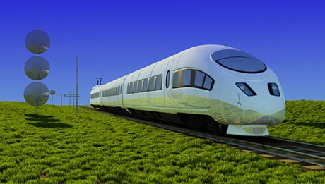 Futuristic electric rail photo
