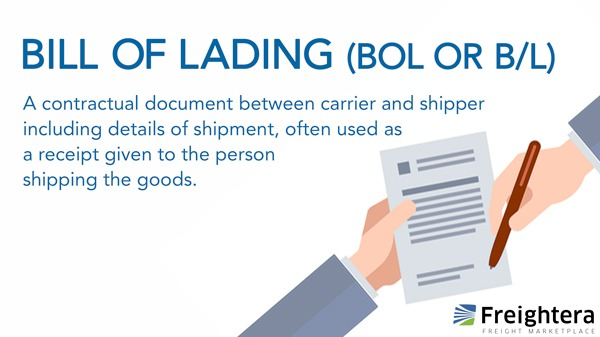 BOL or Bill of lading