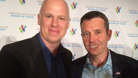 Freightera Online Freight Marketplace CEO Eric Beckwitt with Uber's Chief Advisor David Plouffe