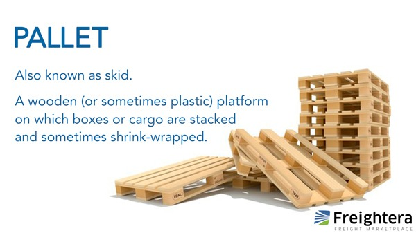 Pallet image, also known as skid