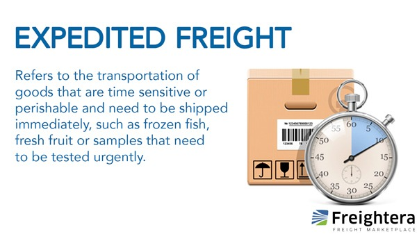 Definition of Expedited freight