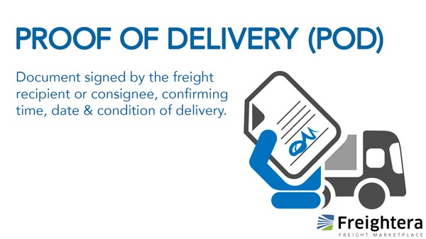 Definition of Proof of delivery aka POD