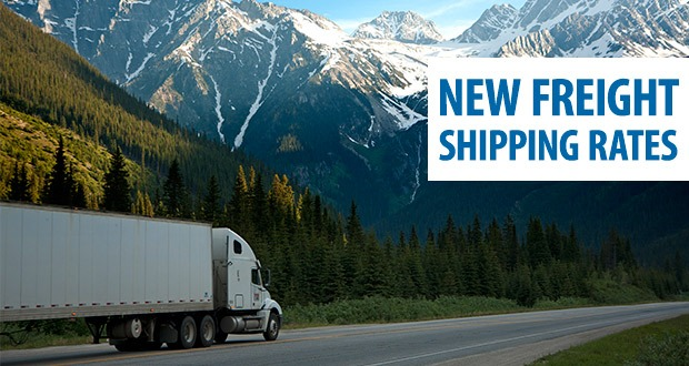 Freight shipping rates in Canada