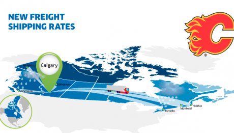 New freight rates Calgary Canada