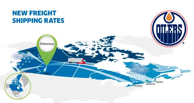 New freight rates Edmonton Canada