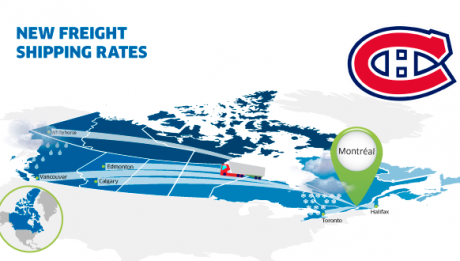 New freight rates Montreal Canada