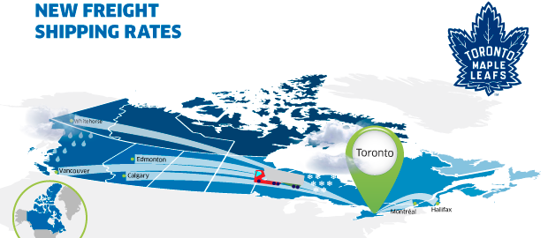 New freight rates Toronto Canada