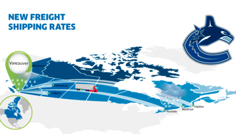 New freight rates Vancouver Canada
