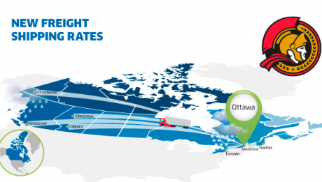 Freight rates Ottawa ON Canada