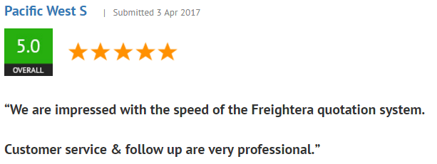 5-star review in Shopper Approved in march 2017
