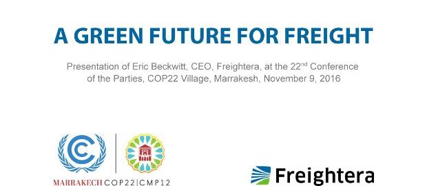 Green future of freight: Eric Beckwitt at COP22 Freightera