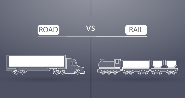 Road vs Rail Shipping Freightera