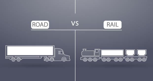 Road vs Rail Shipping Freightera