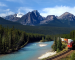 Freight Train in Canadian Rockies