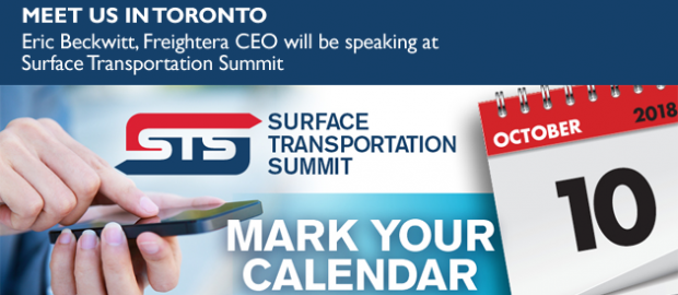 Eric Beckwitt, CEO of Freightera, speaking at the Surface Transportation Summit