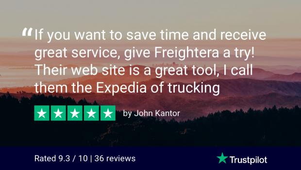 Freightera Trustpilot Review - John Kantor