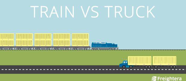 Train vs. Truck Freight Shipping, Rail vs. Road Freight Shipping, Freightera