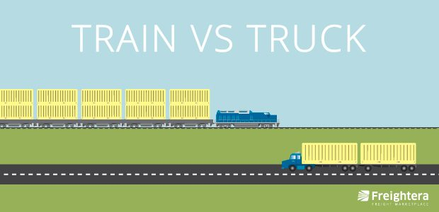 Train vs. Truck Freight Shipping, Rail vs. Road Freight Shipping, Freightera