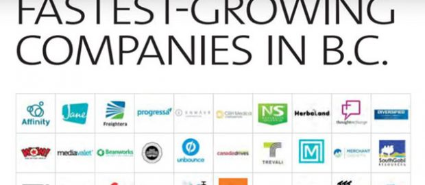 Logos of the Top Fastest Growing Companies in B.C. in 2019