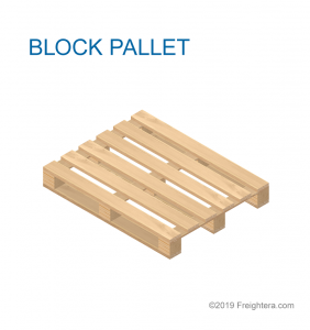 Block pallet, deck board pallet