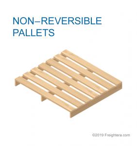 Non reversible pallet