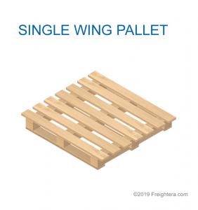 Single wing pallet