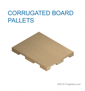 Corrugated board pallet