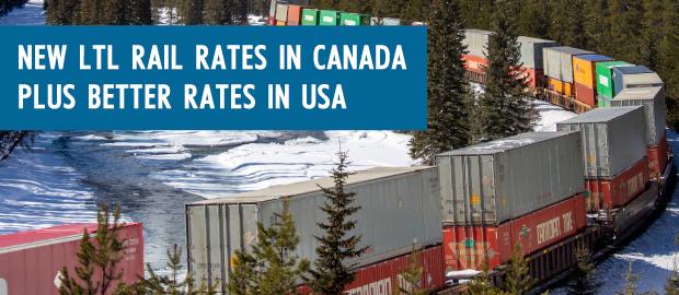 LTL Rail Rates Canada USA Freightera