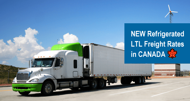 Freightera LTL Reefer Rates in Canada