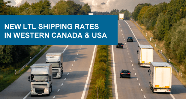 Freightera LTL rates in Western Canada and USA
