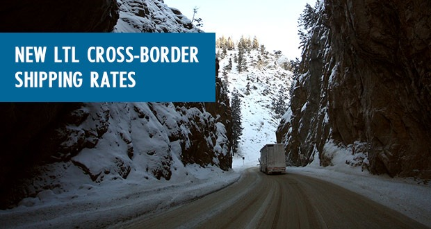 New LTL cross-border Freightera freight rates