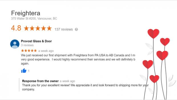 Jan 2020 Freightera Reviews