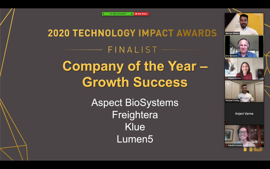 Technology Impact Award Finalist 2020