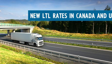 New LTL Freight Shipping Rates Canada USA