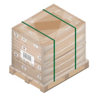 Pallet prepared for shipping