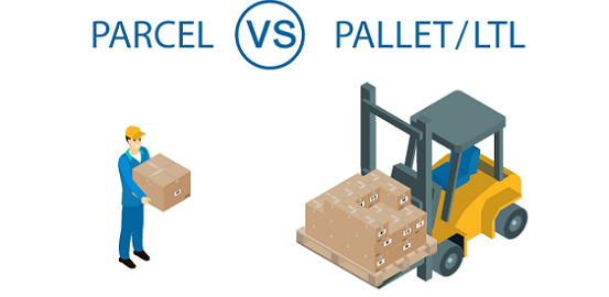 Parcel vs LTL Pallet Freight Shipping Freightera