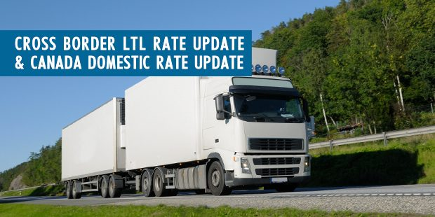 Cross Border LTL Rates Update & Canada-Domestic Rate Update Truck Image