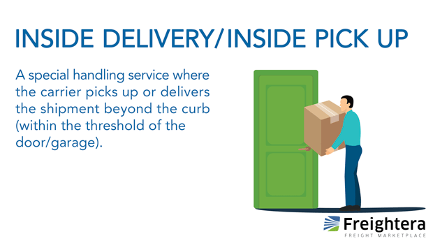 Inside Delivery Inside Pick Up Freightera Glossary Freight Definition