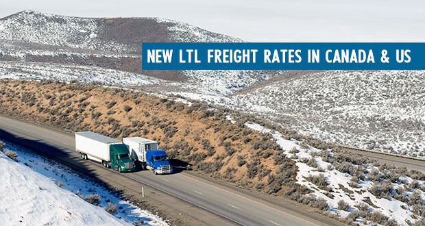 New LTL Freight Rates in Canada and US