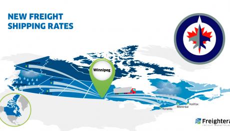 LTL freight rates from Winnipeg MB