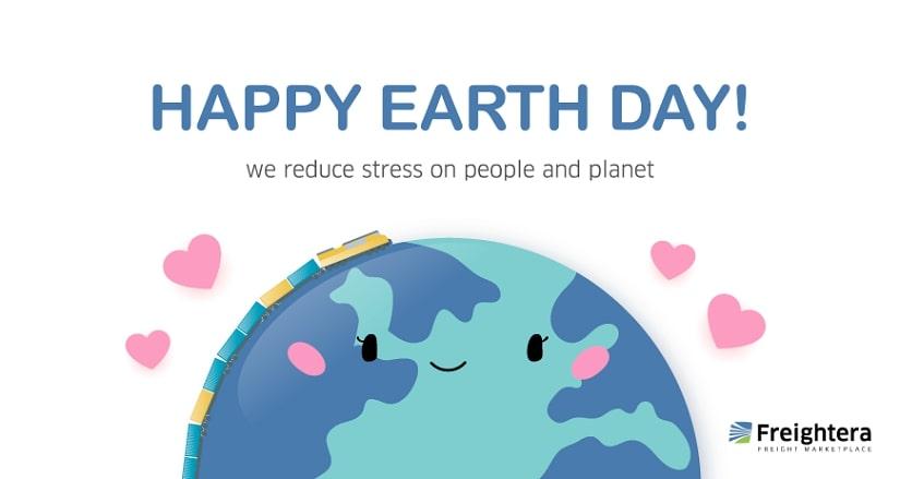 Happy Earth Day custom Freightera card
