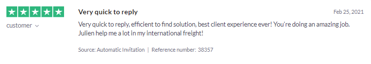 customer review Freightera