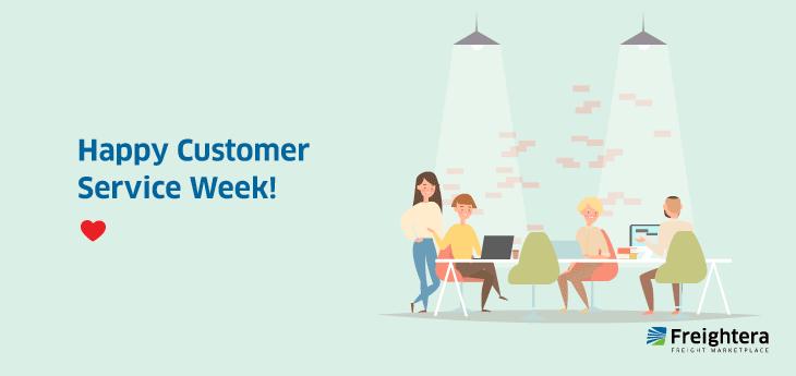 Customer Service Week illustration of people working together