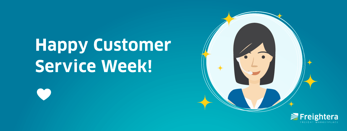 Customer Service Week illustration of a customer service representative with a headset